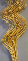 Curly ting dřevěný korálek 80cm tm.žlutý