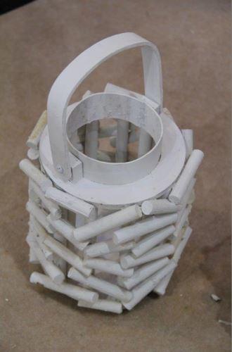 Lampa špalíky bílá
