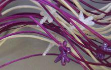 1054 mix fialová/bílá