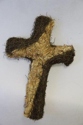 Kříž proutí 2 30 cm
