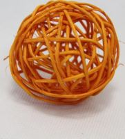 Ratan ball 6cm oranžová