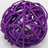 Ratan ball 6cm fialová