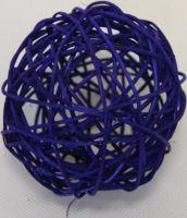 Ratan ball 8cm modrá