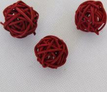 RATAN BALL 3 cm červená
