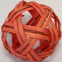 Ratan ball C 10cm oranžová