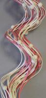 Curly ting dřevěný korálek 80cm mix růžová/bílá