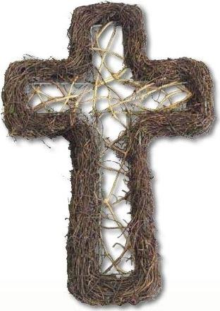 Kříž proutí 1 30 cm