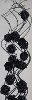 Curly ting with ball černá