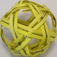 Ratan ball C 10cm žlutá