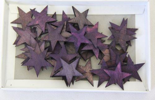 Hvězda březová kůra barvená 4 cm